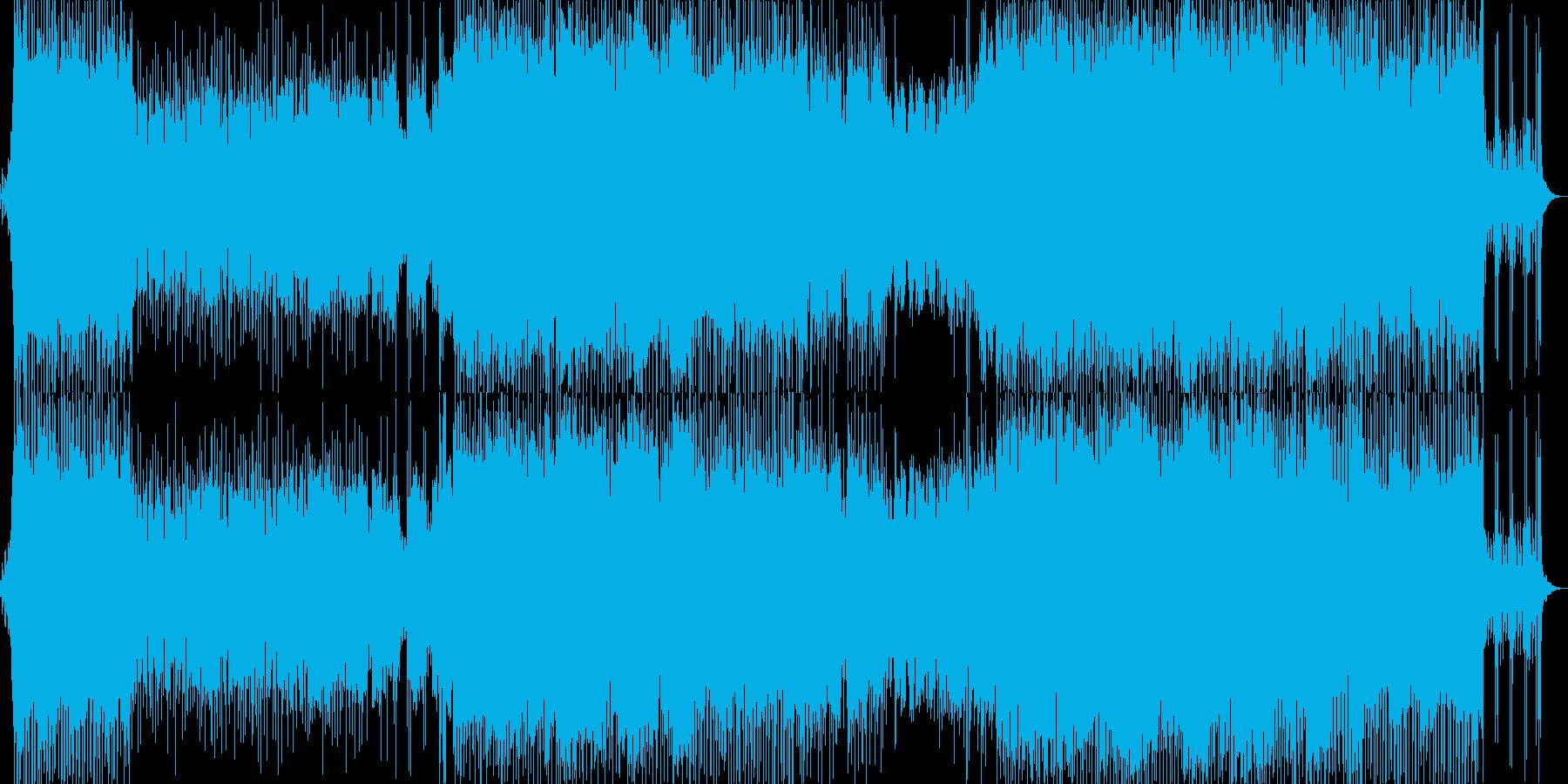 洋楽ばりに重厚でアップテンポなロックの再生済みの波形