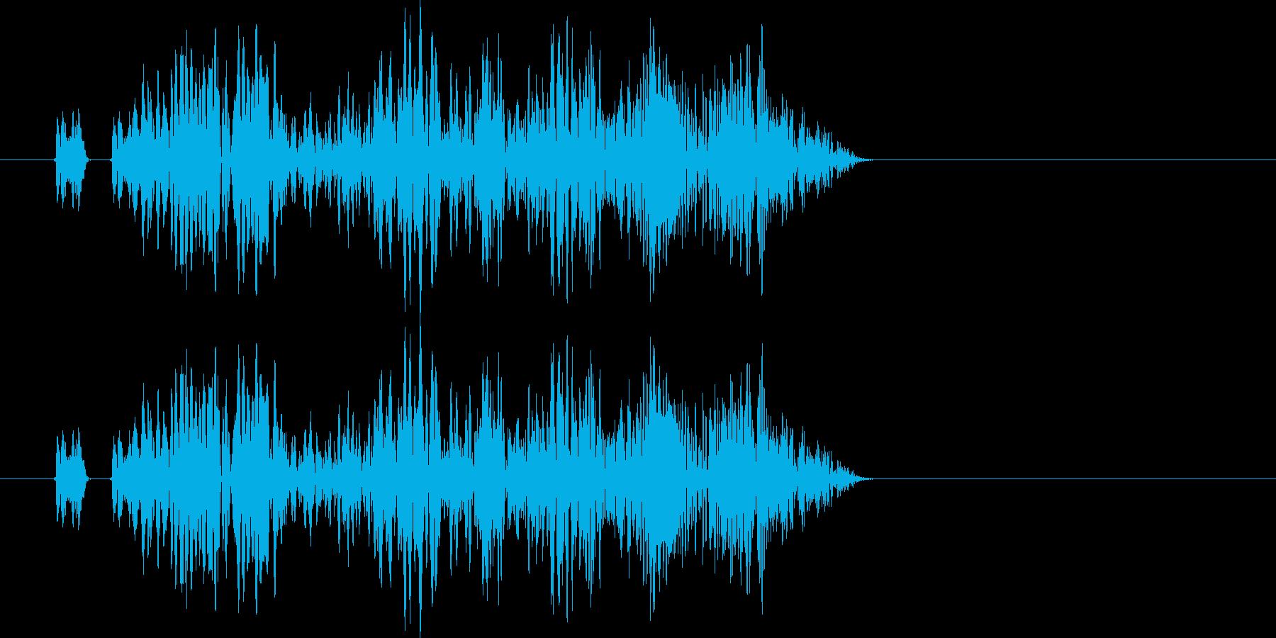 ピロピロ、ショワショワ、の再生済みの波形