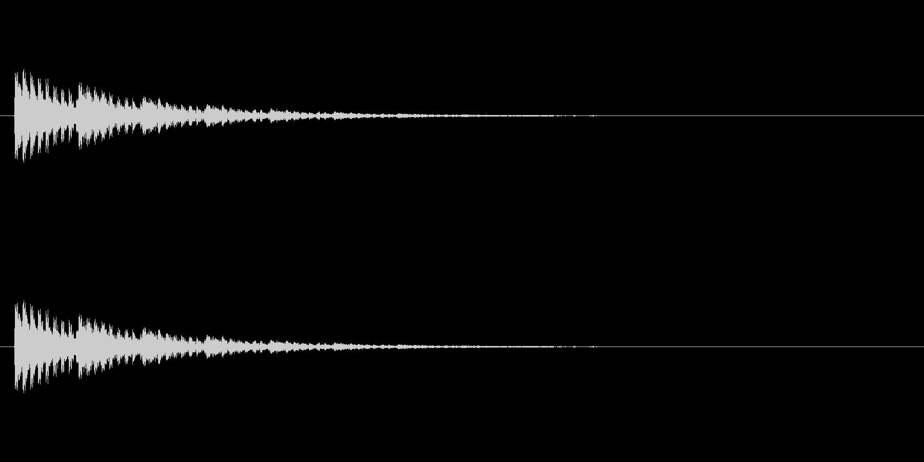 【アクセント18-3】の未再生の波形