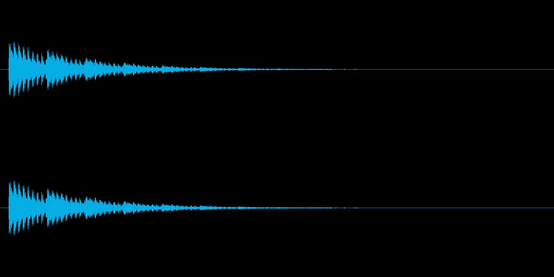 【アクセント18-3】の再生済みの波形