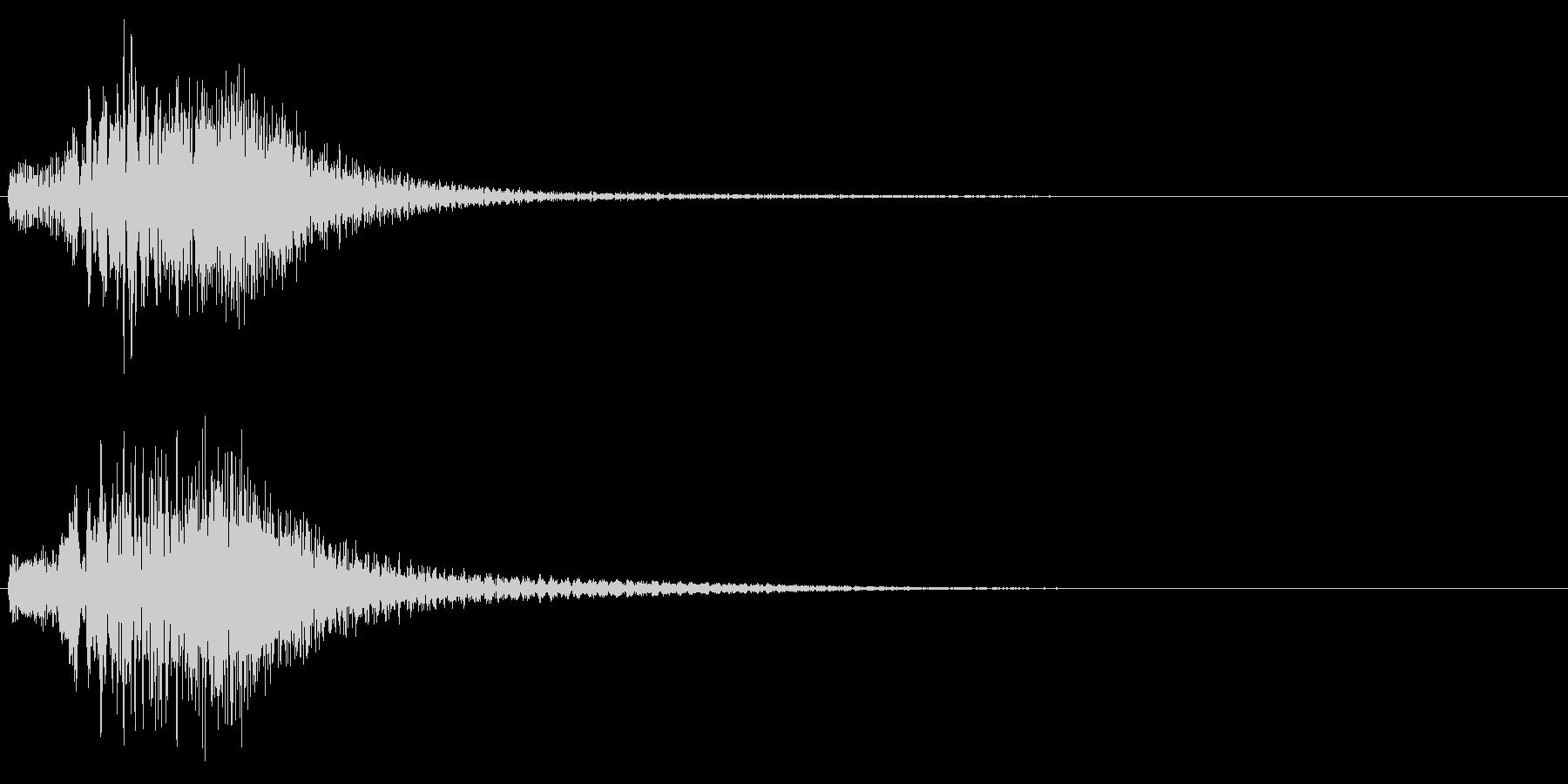 ハープ使用華麗なキラキラ上昇音 変身転換の未再生の波形