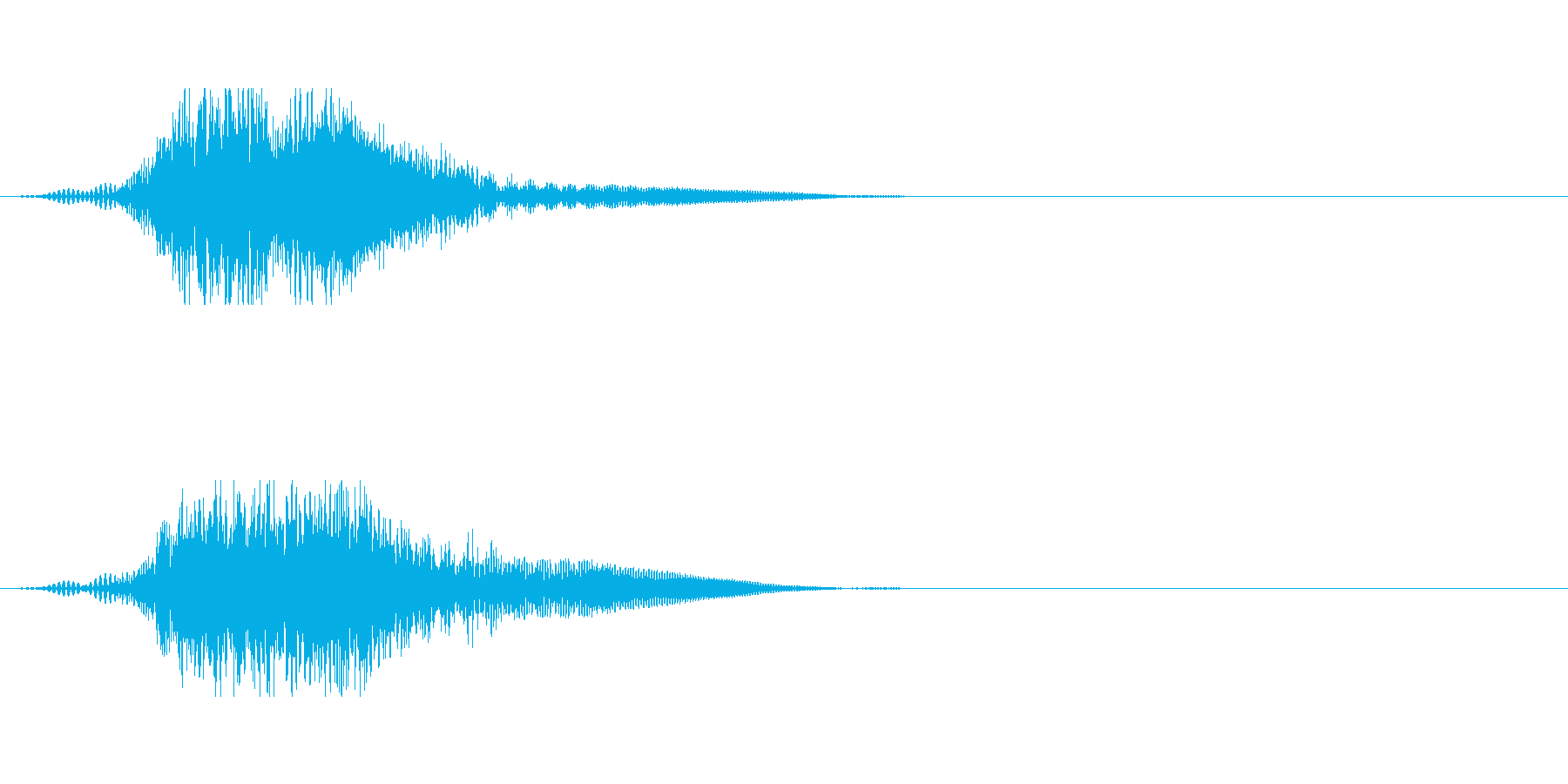 SFの開閉音や小規模ワープ風の再生済みの波形