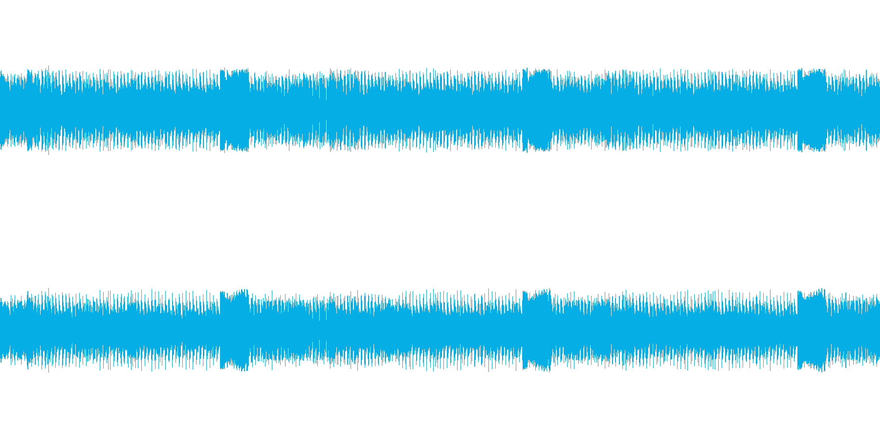 怪獣登場風の曲の再生済みの波形