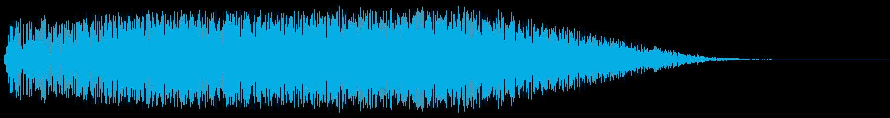アニメにありそうな巨大メカの起動音の再生済みの波形
