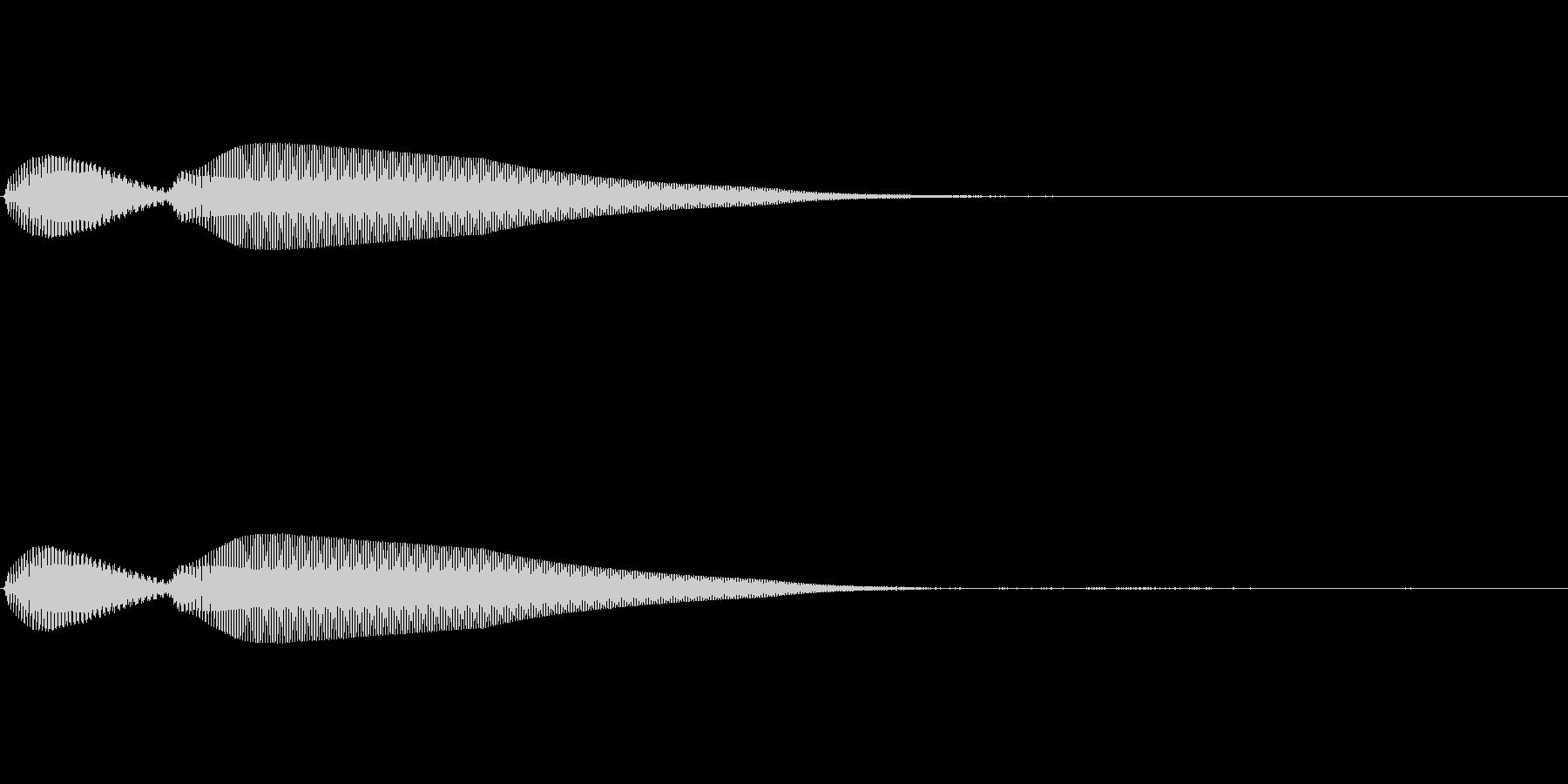 【操作音】決定音 キャンセル音の未再生の波形