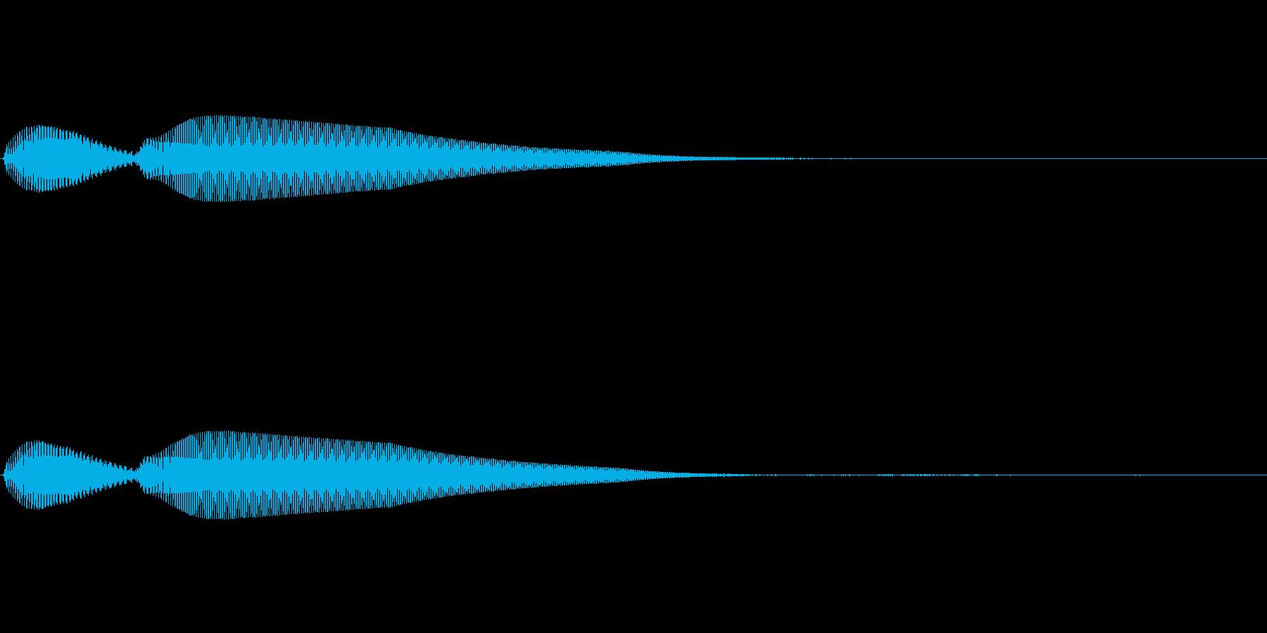 【操作音】決定音 キャンセル音の再生済みの波形