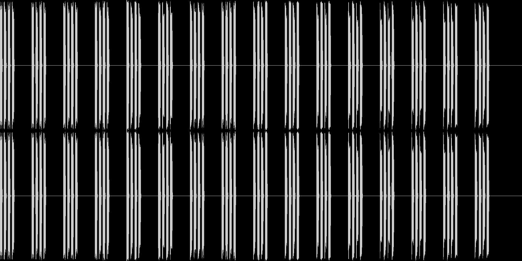 ピピピピ(電子音、機械音)の未再生の波形
