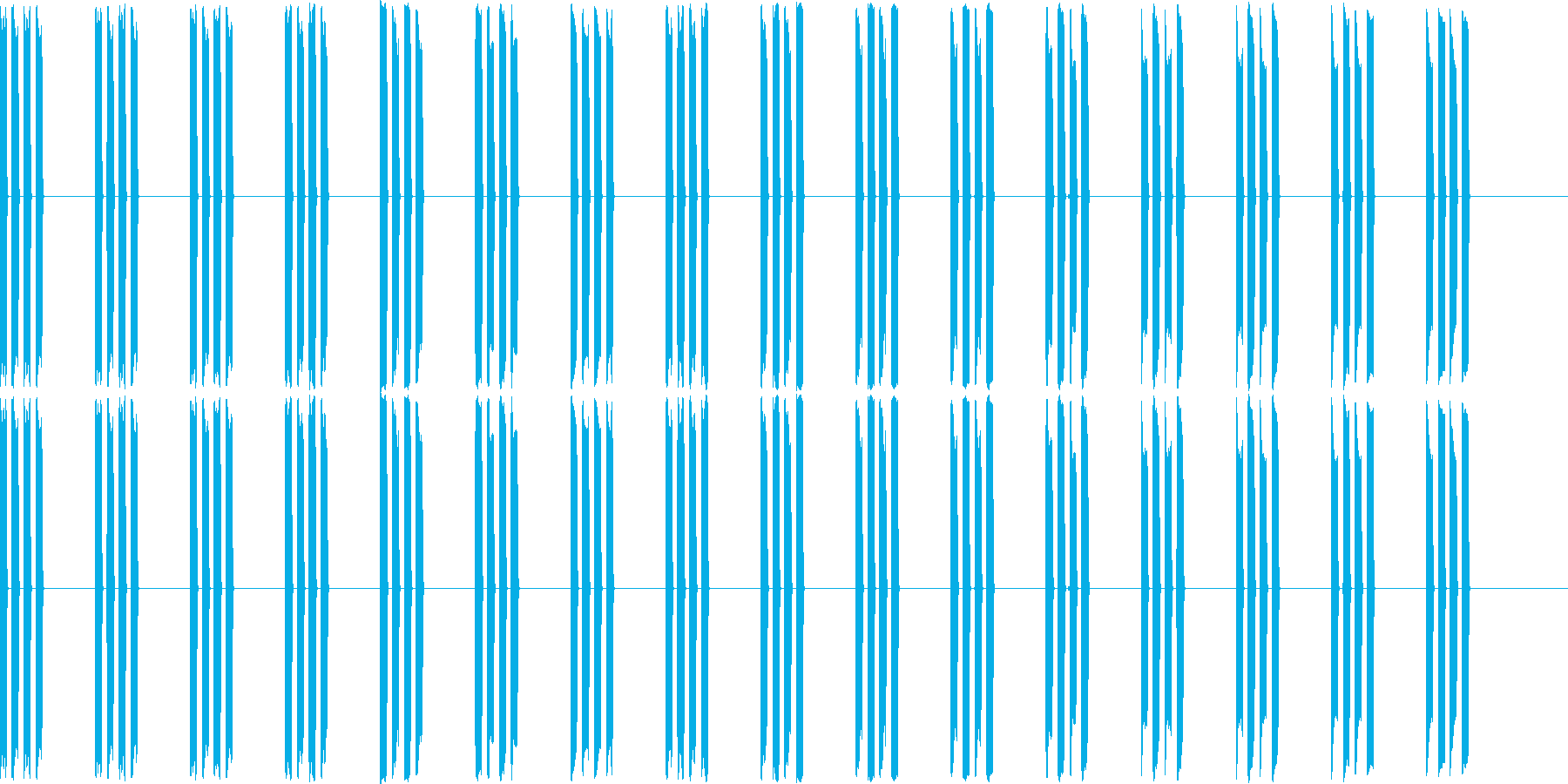 ピピピピ(電子音、機械音)の再生済みの波形