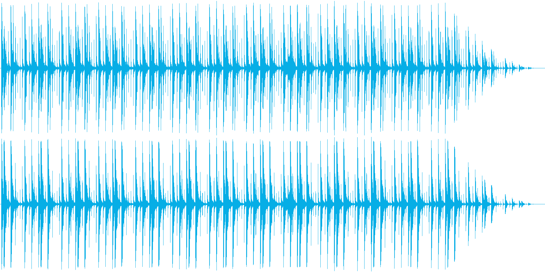パーカッションの曲。の再生済みの波形