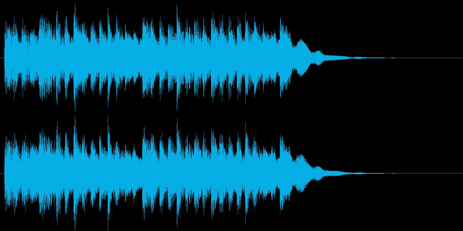おしらせチャイムの再生済みの波形