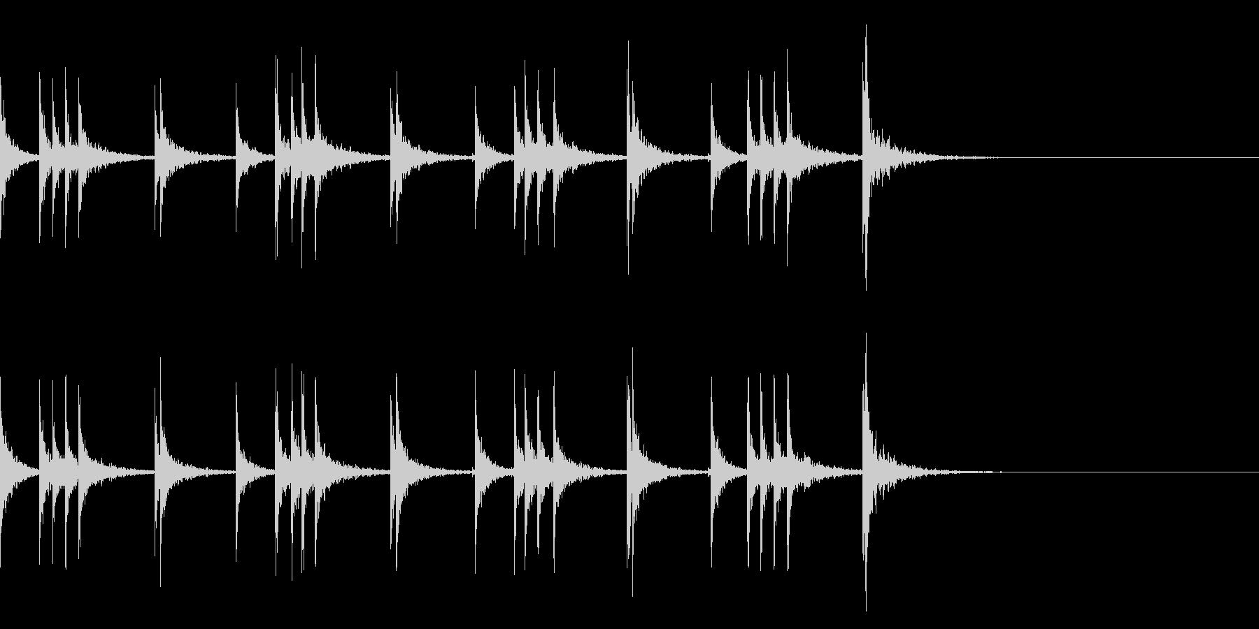 カスタネット!フレーズ1 エフェクト有の未再生の波形
