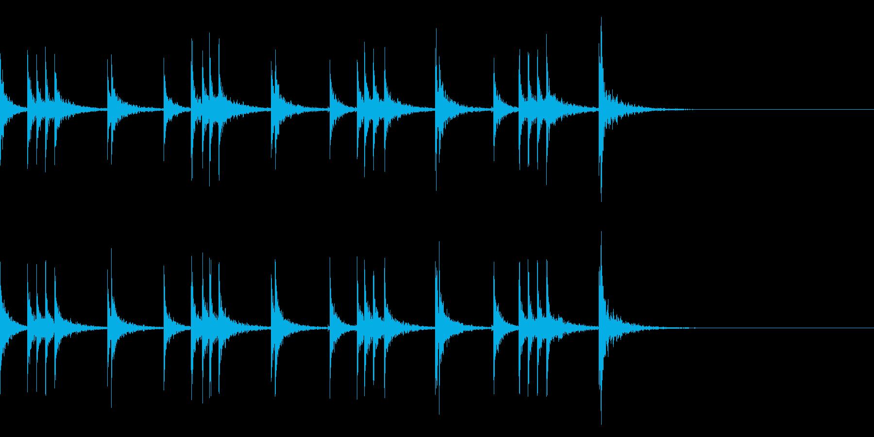 カスタネット!フレーズ1 エフェクト有の再生済みの波形