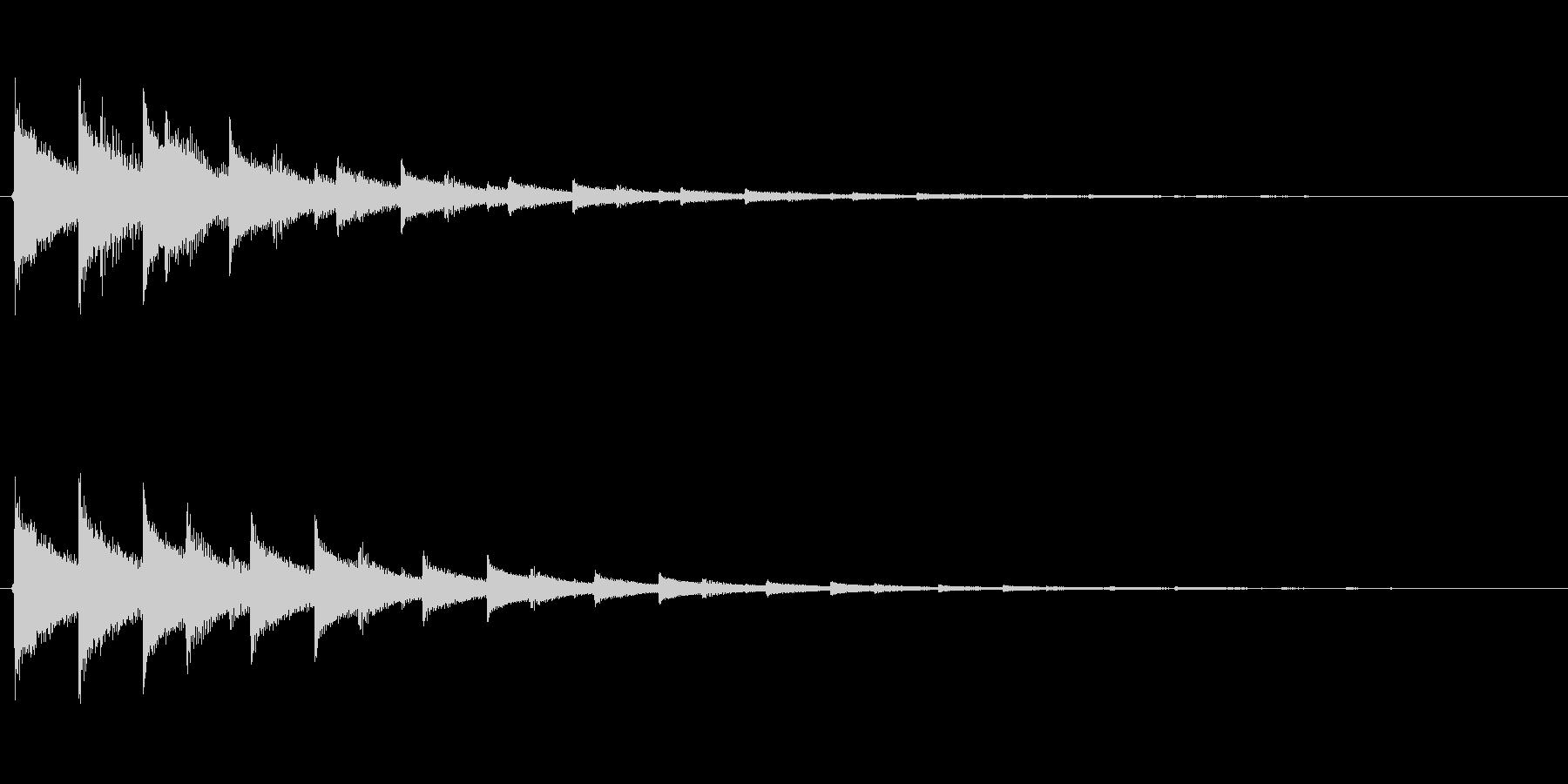 チャララン(決定音、シンセ、高めの音)の未再生の波形