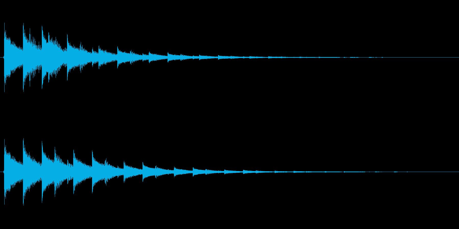 チャララン(決定音、シンセ、高めの音)の再生済みの波形