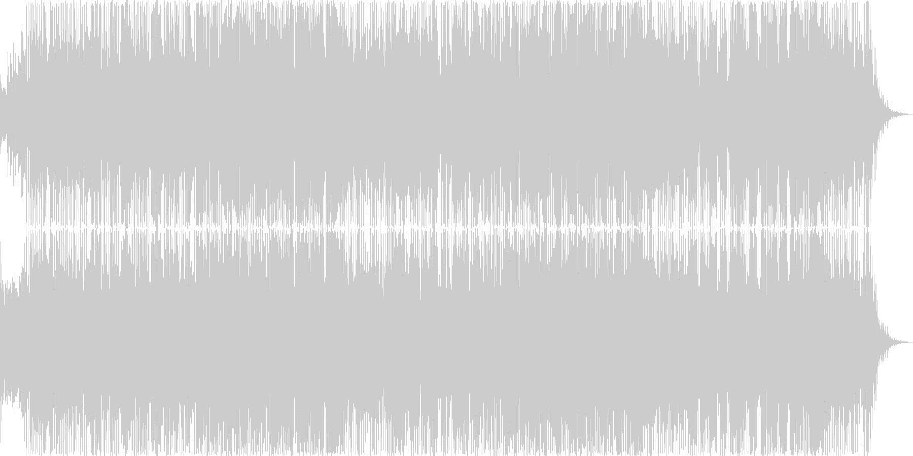 英語女性ボーカル・アコースティックギターの未再生の波形