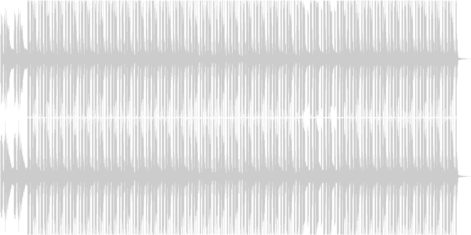 映像作品のBGMやリラックスタイムにの未再生の波形