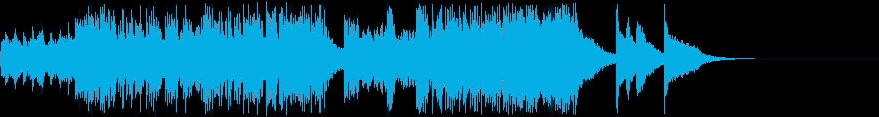 テンポ感のある現代音楽調のピアノ曲の再生済みの波形
