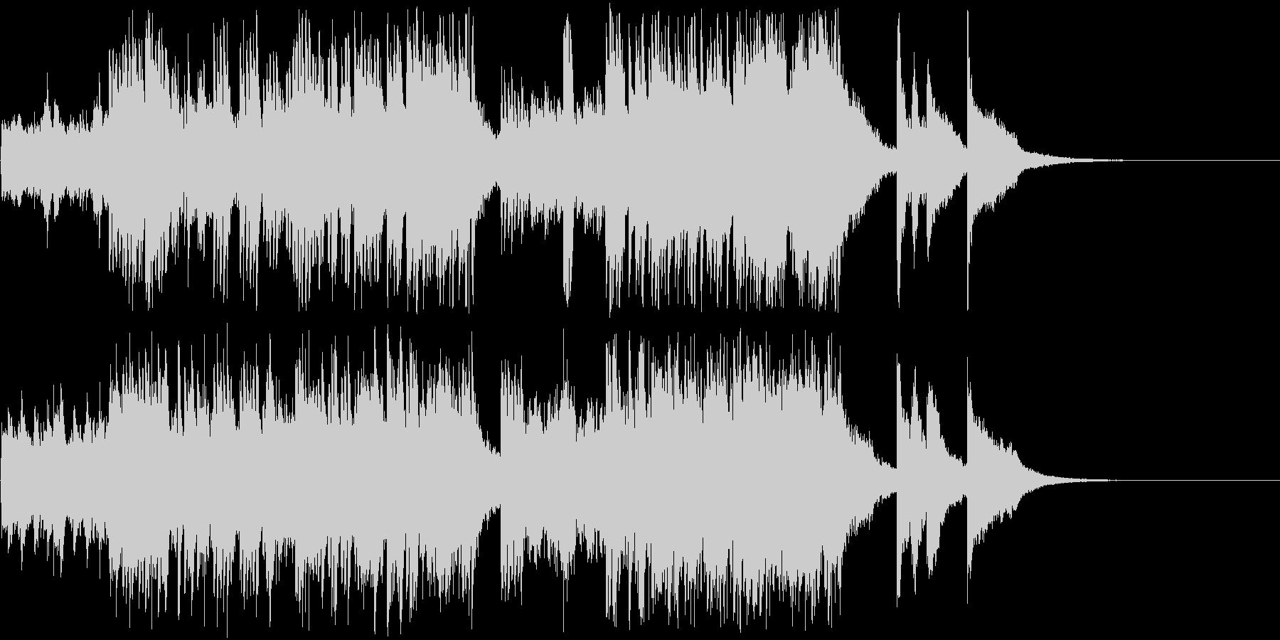 テンポ感のある現代音楽調のピアノ曲の未再生の波形
