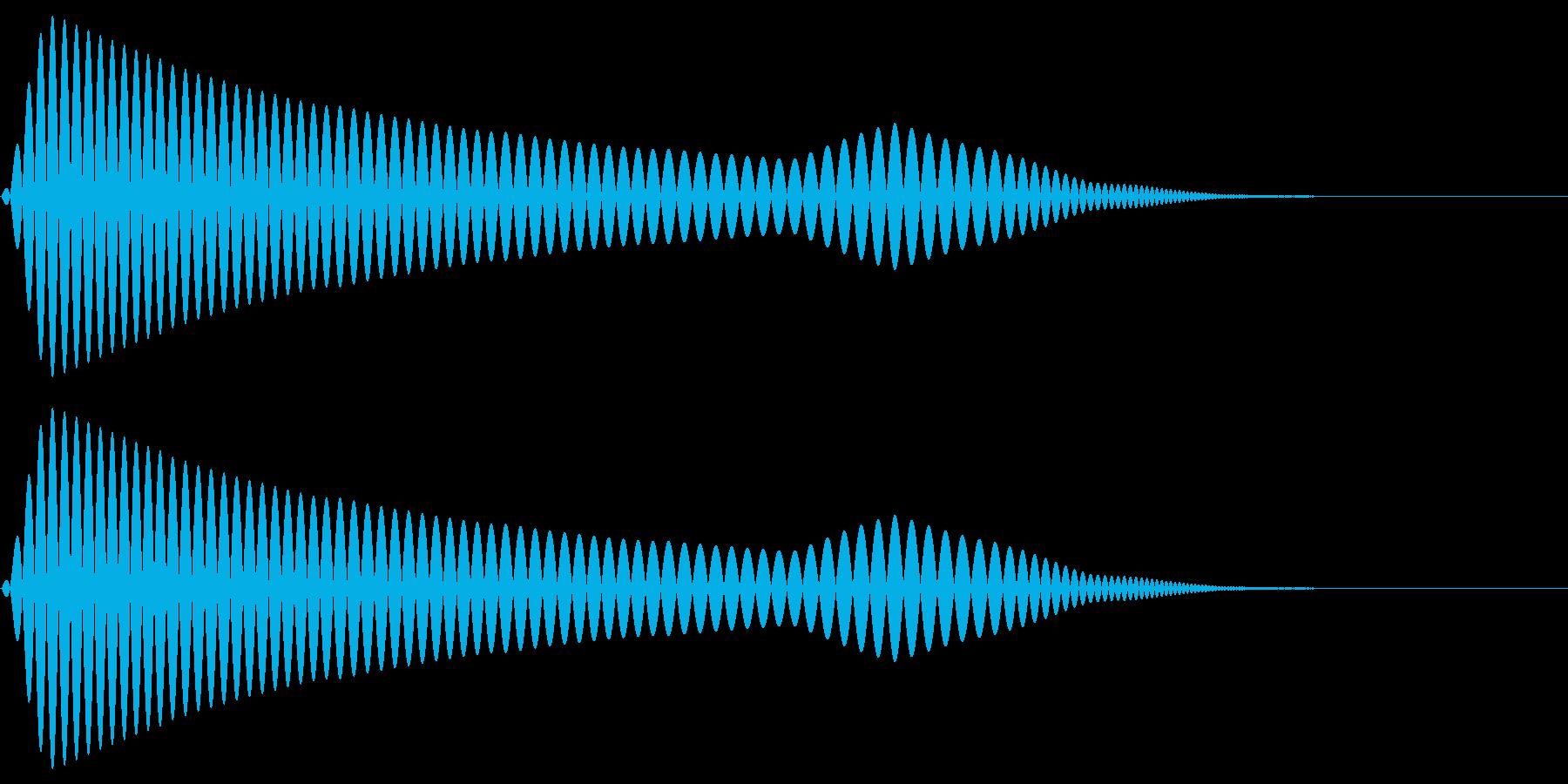 ポウ↓(キャンセル・戻る操作音)の再生済みの波形