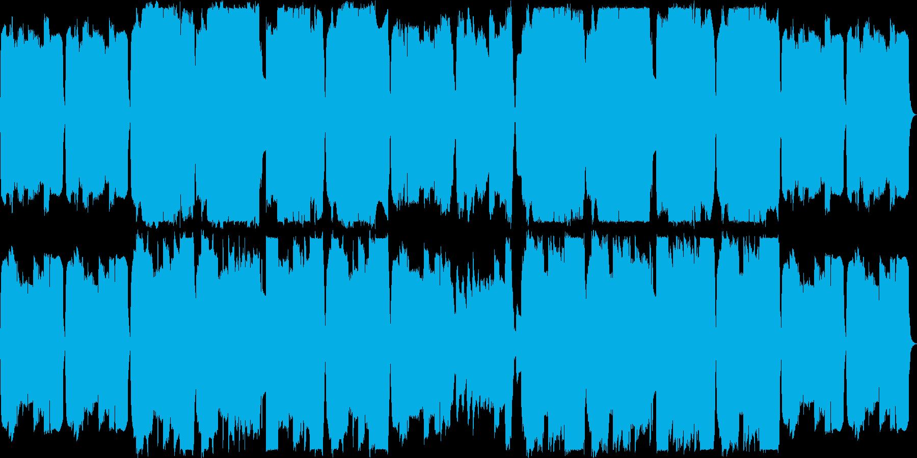 オカリナとリコーダーの切ない曲の再生済みの波形