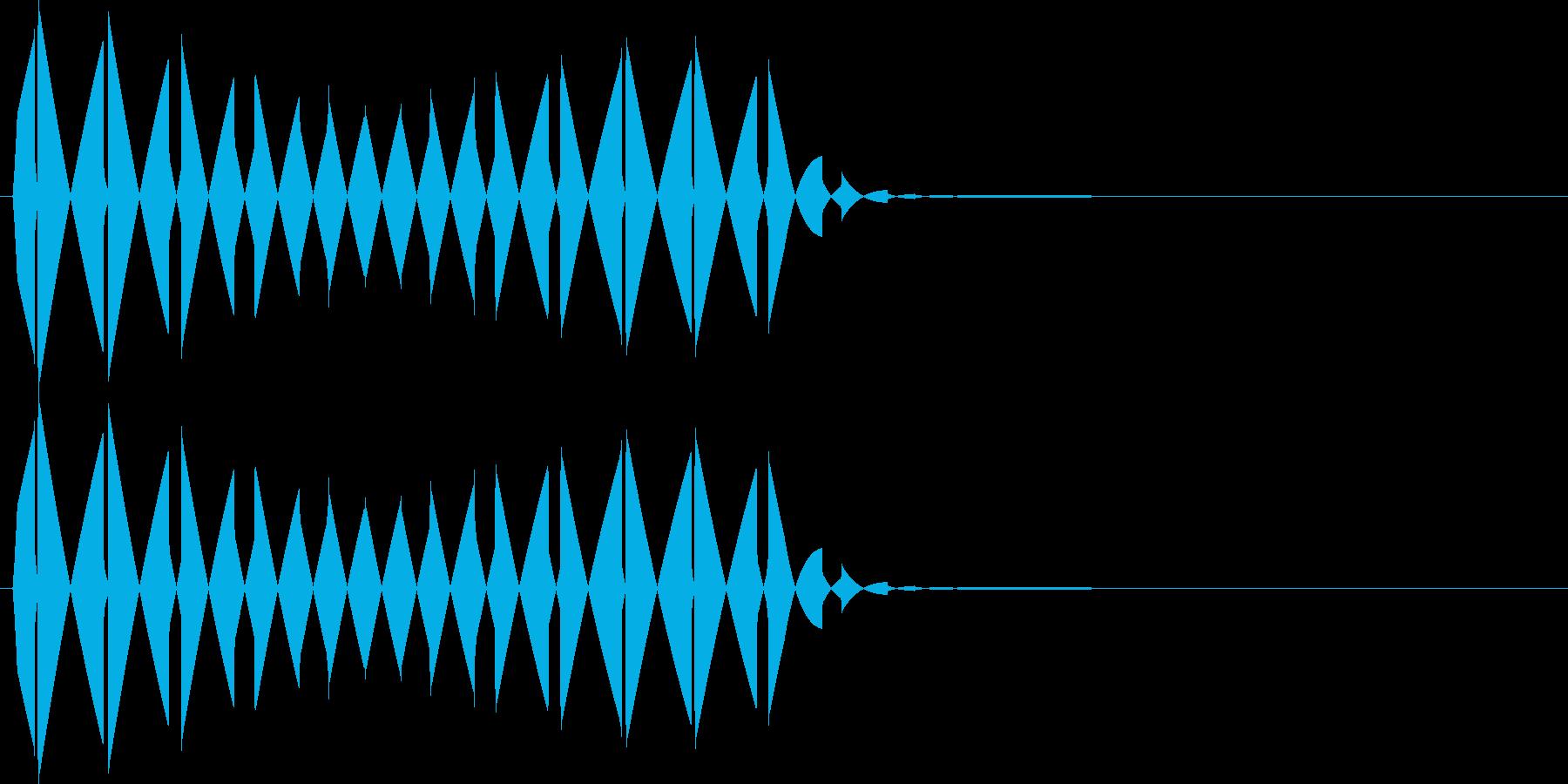 ブ(キャンセル、カーソル移動、行止まり)の再生済みの波形