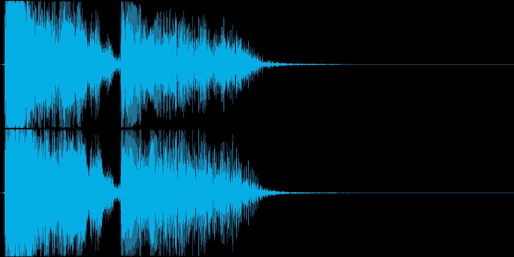 格闘ゲーム用「KO」の再生済みの波形