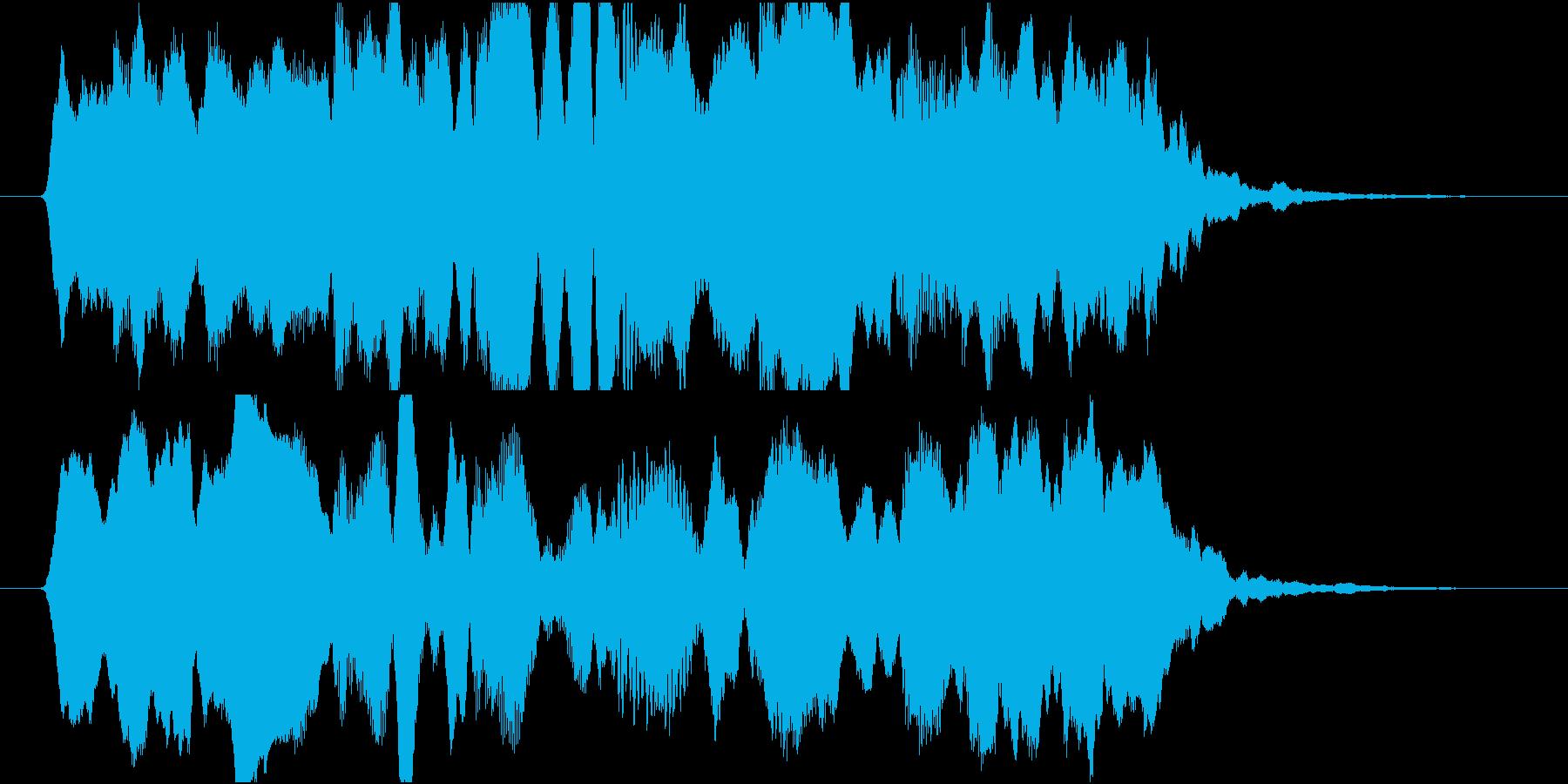 哀愁漂うフルートメインの切なげなジングルの再生済みの波形