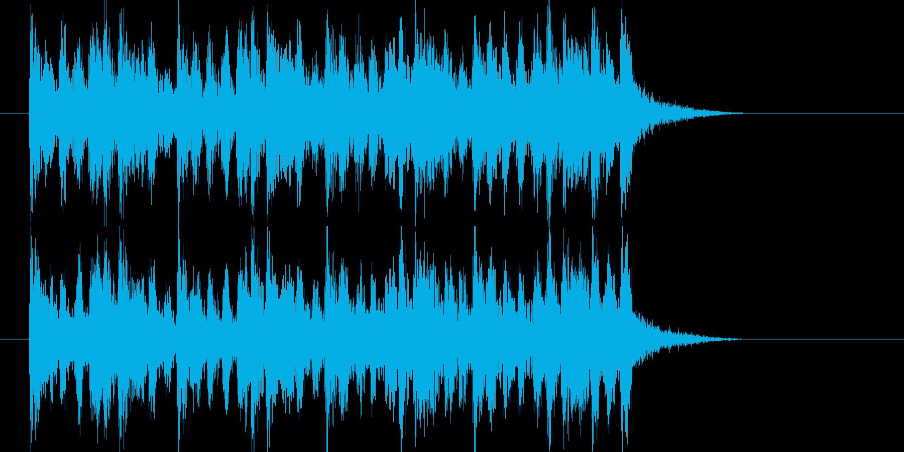 軽快なフルートサウンドの再生済みの波形