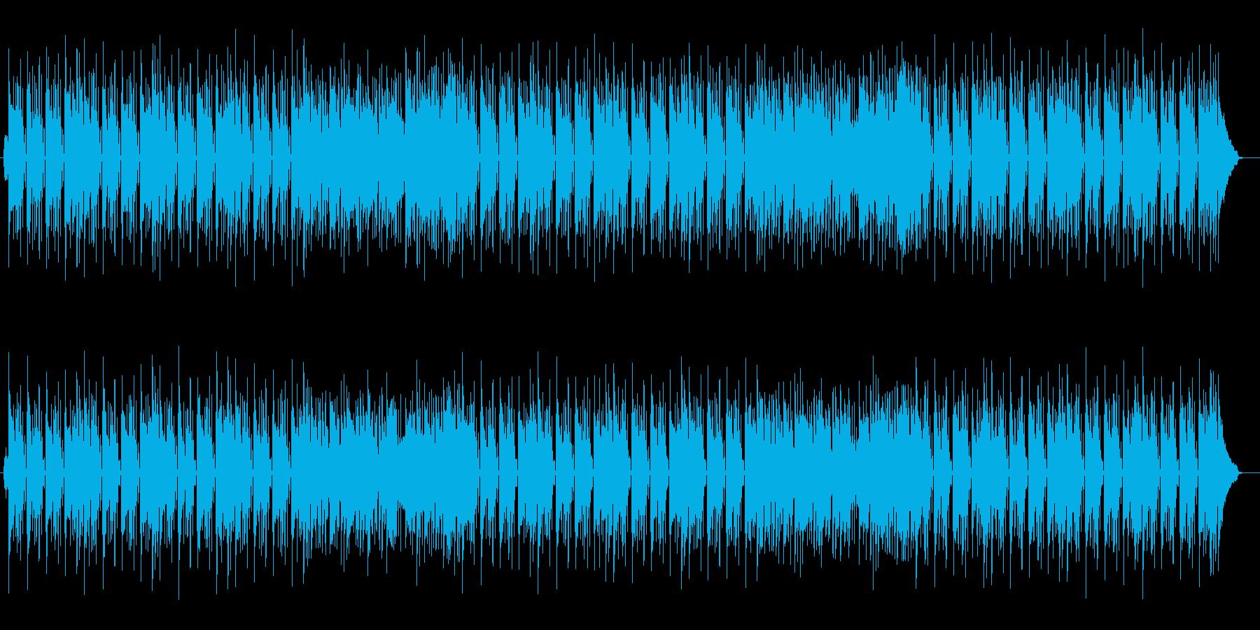 明るく安らぎのあるミュージックの再生済みの波形