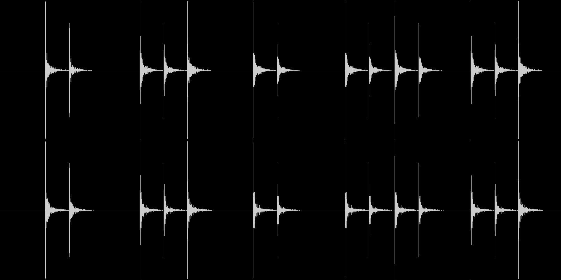 コンコンという連続したノック音の未再生の波形
