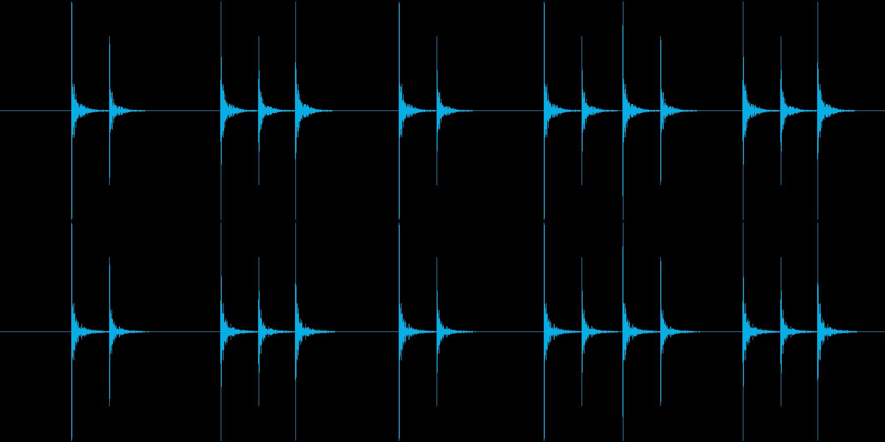 コンコンという連続したノック音の再生済みの波形